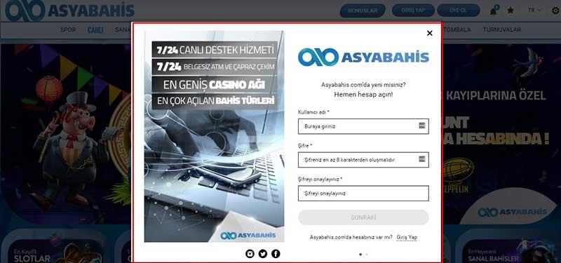 Asyabahis-Kullanıcı-adı-ve-Şifre-Üyelik-Form-